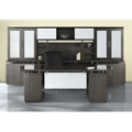 Bowfront Desk with Wall Storage, 14128