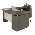 "Bowfront L-Desk with Modesty Panel - 72""W, 14129"