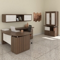 Bowfront L-Desk Office Suite, 14130