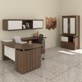 Bowfront L-Desk Office Suite, 14130