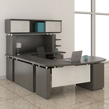 "Executive U-Desk with Hutch - 72""W, 14132"