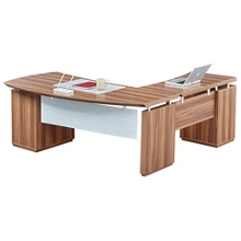 """Bowfront L-Desk with Modesty Panel - 72""""W, 14170"""