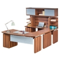 "Executive U-Desk with Hutch - 72""W, 14171"