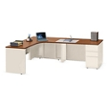 "Alloy Metal L Desk with Right Return and Three Drawers - 72""W, 14441"