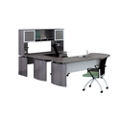 "Right U-Desk with Hutch and Extension - 91""W, 14467"
