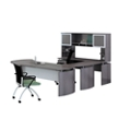 "Left Executive U-Desk with Hutch and Extension - 100""W, 14470"