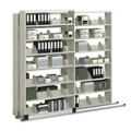 """Three Unit Letter File Track System with Seven Tiers - 36""""W, 30617"""