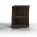 """20""""H 2 Shelf Contemporary Corner Bookcase, 32070"""