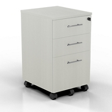 "15.5""W 3 Drawer Contemporary Mobile Pedestal, 34001"