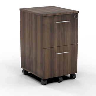 "15.5""W 2 Drawer Contemporary Mobile Pedestal, 34002"