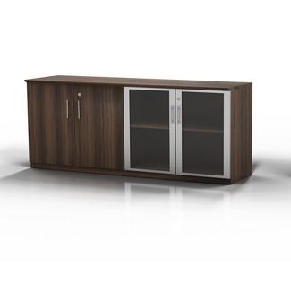 "Glass Door Contemporary Storage Cabinet - 72""W, 36554"