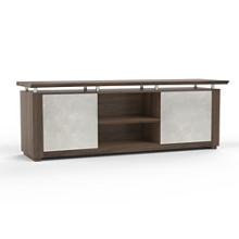 "Six Shelf Low Wall Cabinet with Acrylic Doors - 84""W, 36595"