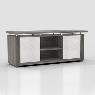 "Six Shelf Low Wall Cabinet with Acrylic Doors - 72""W, 36596"