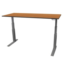 "Electric Adjustable Height Table - 60""W x 24""D, 41702"