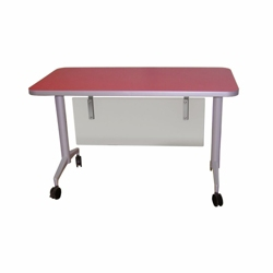 "Mobile Flip Top Nesting Table with Modesty Panel - 54""W x 30""D, 41774"