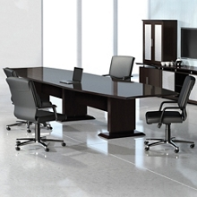 Curved Boat-Shaped Conference Table - 12', 45038