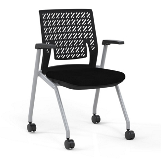 Flexible Back Nesting Chair with Fabric Seat, 51553