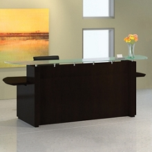 """Reception Desk with Glass Counter - 96""""W, 76411"""