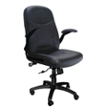 Big and Tall Pivot-Arm Leather Chair, 50589