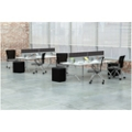 Dual-Sided Eight Person Workstation with Acoustic Privacy Panel, 14161