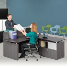 Reception Desk and Lateral File Set , 14133