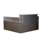 Reception L-Desk with Hutch, 75436