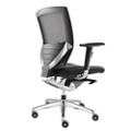 Arris Mid-Back Mesh Chair with Memory Foam Leather Seat, 50789