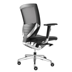 Arris Mid-Back Mesh Chair with Memory Foam Fabric Seat, 50790