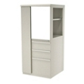 "Left Wardrobe Door Storage Cabinet with Binder Storage - 52"" H, 36417"