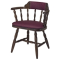 Wood Frame Chair with Vinyl Seat and Back and Full Arms, 44372