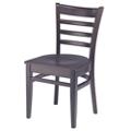 Ladder Back Wood Chair, 44373