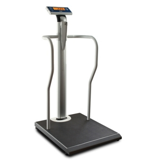 Digital Scale with Handrails and Height Rod - 1000 lb Capacity, 25853