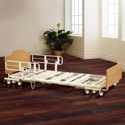 """High-Low Electric Bed Frame with Boards and Assist Rails - 12"""" to 23.5""""H, 25859"""