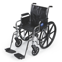 """Chrome-Framed Wheelchair with Swing Away Foot Rests - 18""""W Seat, 25914"""