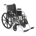 "Chrome-Framed Wheelchair with Elevating Foot Rests - 18""W Seat, 25915"