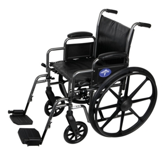 """Silver Vein Framed Wheelchair with Swing Away Foot Rests - 20""""W Seat, 25920"""