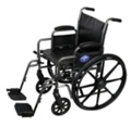 "Silver Vein Framed Wheelchair with Swing Away Leg Rests - 16""W Seat, 25916"