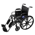 "Silver Vein Framed Wheelchair with Elevating Leg Rests - 18""W Seat, 25919"