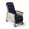 Narrow Mobile Patient Recliner with Adjustable Headrest , 26058