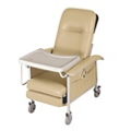 Mobile Patient Recliner with Adjustable Headrest and Tray, 26081