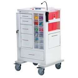 """Phlebotomy Cart with Five Drawers and Gatelock - 45""""H, 36982"""