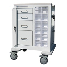 """Phlebotomy Cart with Four Drawers and Gatelock - 37.25""""H, 36983"""