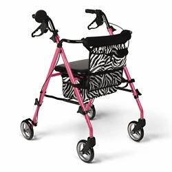 Stylish Zebra Print Rollator, 82175