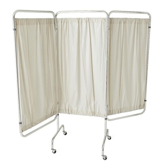 Vinyl Three Panel Privacy Screen, 82359