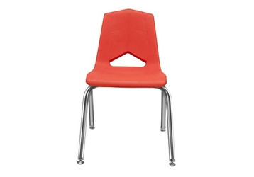 "V Back Student Chair with 10""H Chrome Frame, 51633"