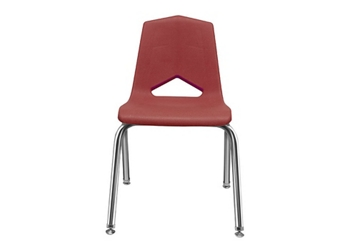"V Back Student Chair with 18""H Chrome Frame, 51637"