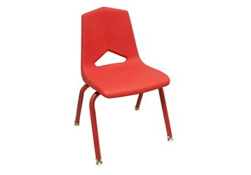 "V Back Student Chair with 14""H Color Frame, 51640"