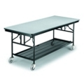 "Standing Height Mobile Folding Buffet Table - 96""W x 30""D, 40006"