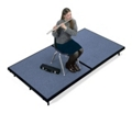 "Mobile Carpeted Stage - 48""W x 96""D x 24""H, 80009"