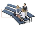 """Tapered Carpeted Standing Riser - 60""""W x 18""""D x 8""""H, 80021"""